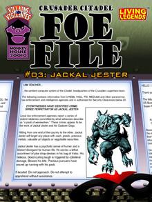 Foe File #3: Jackal Jester
